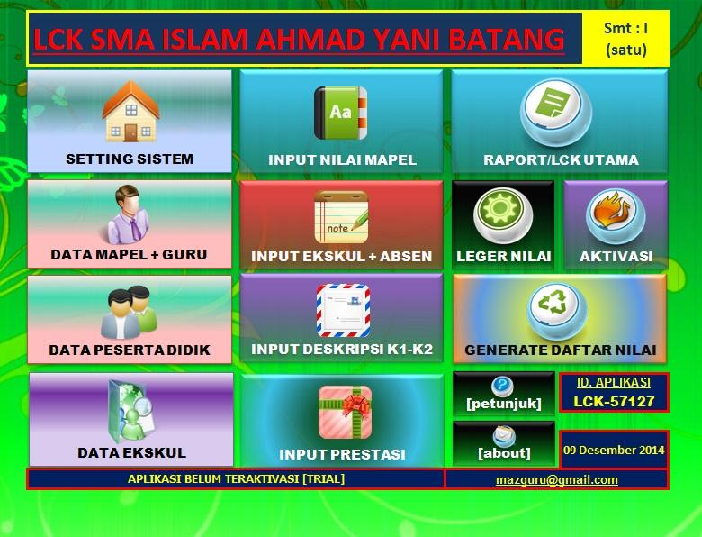 Aplikasi Laporan Capaian Kompetensi (LCK)/Raport SMA Kur-13